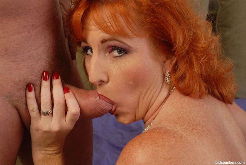 OLDSPUNKERS.com Presents Sasha - redhead mature amateur squirter with a foot ...