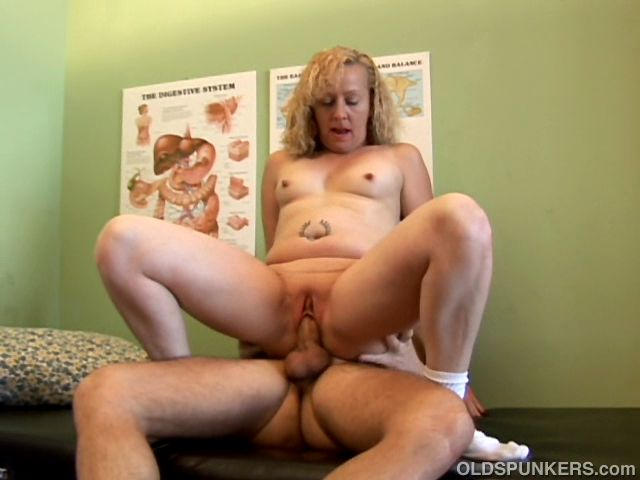 Naughty MILF patient enjoys a full exam of her mouth and pussy by doctors hard cock